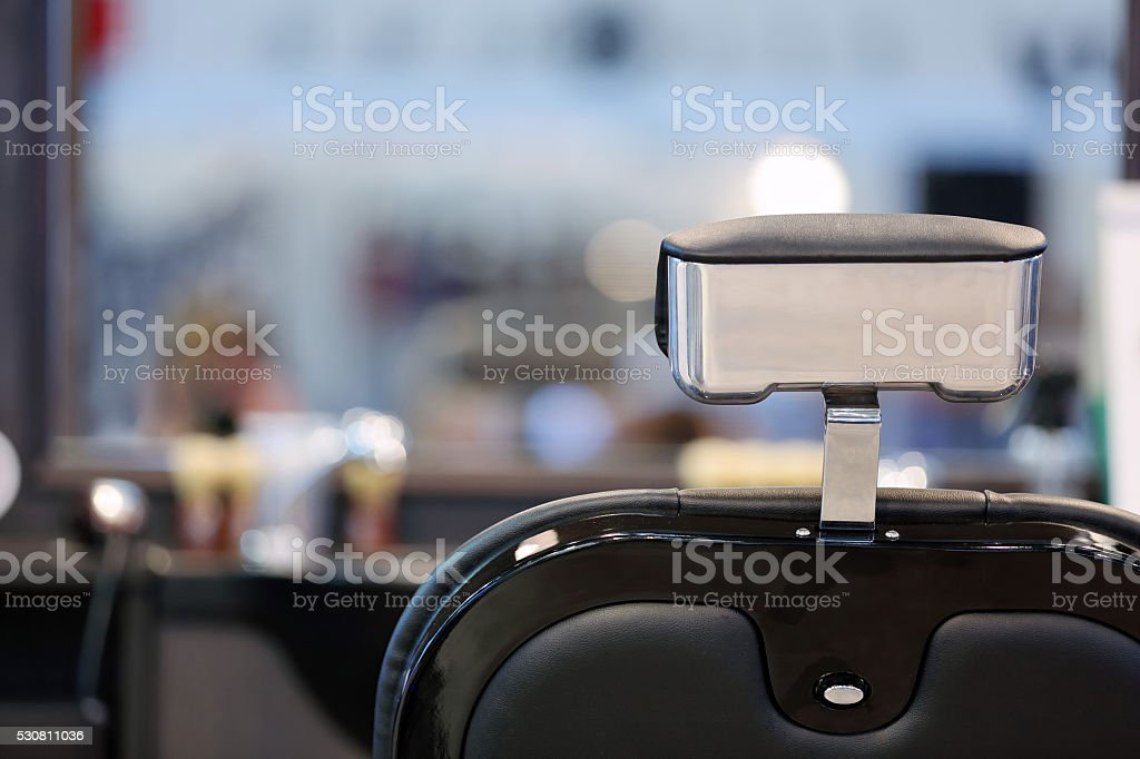 Barber shop with space for text stock photo