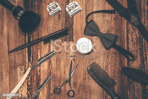 istock Barber tools. 506519974