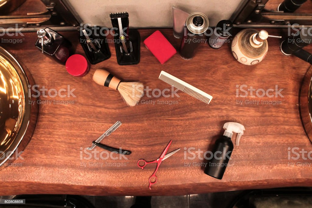 Barber tools stock photo
