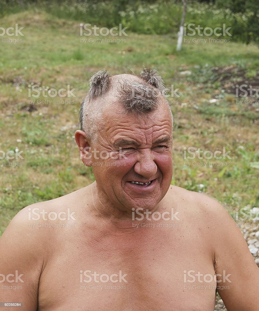 Barbering man stock photo
