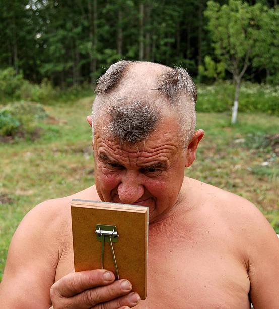 Barbering men stock photo