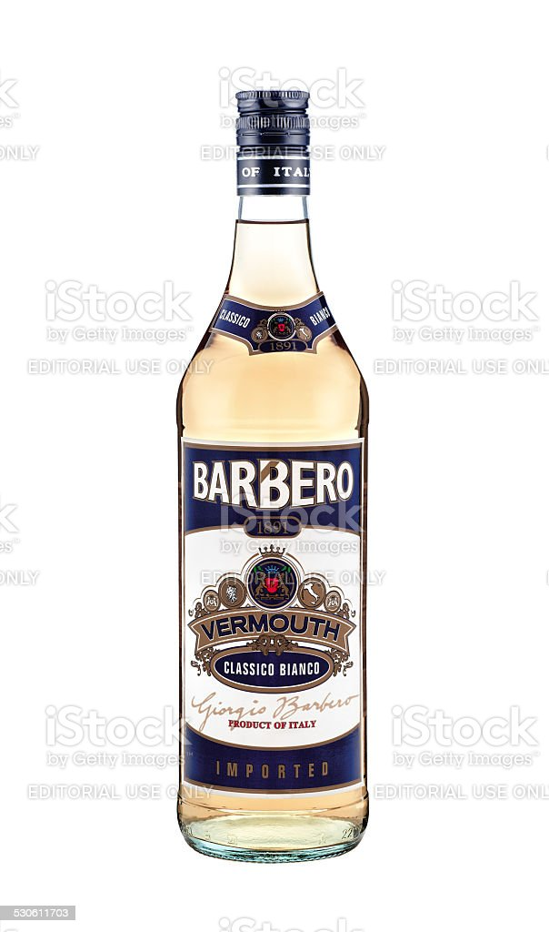 Barbero Vermouth Classico Bianco stock photo