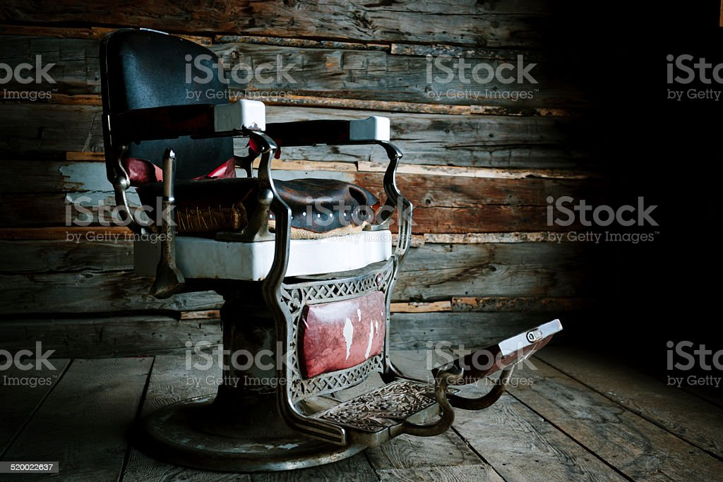 Barber's chair, ghost town stock photo