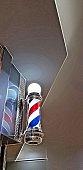 Barbers pole illustration