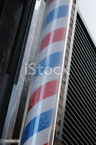 istock Barbers pole 1194285744