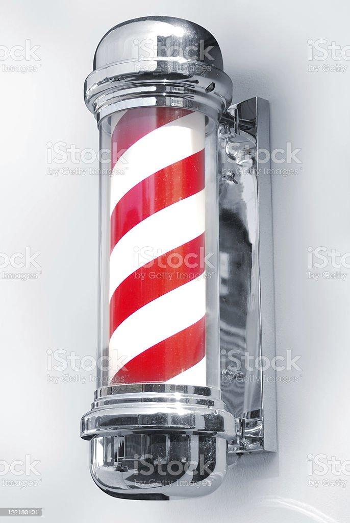 barber's pole stock photo