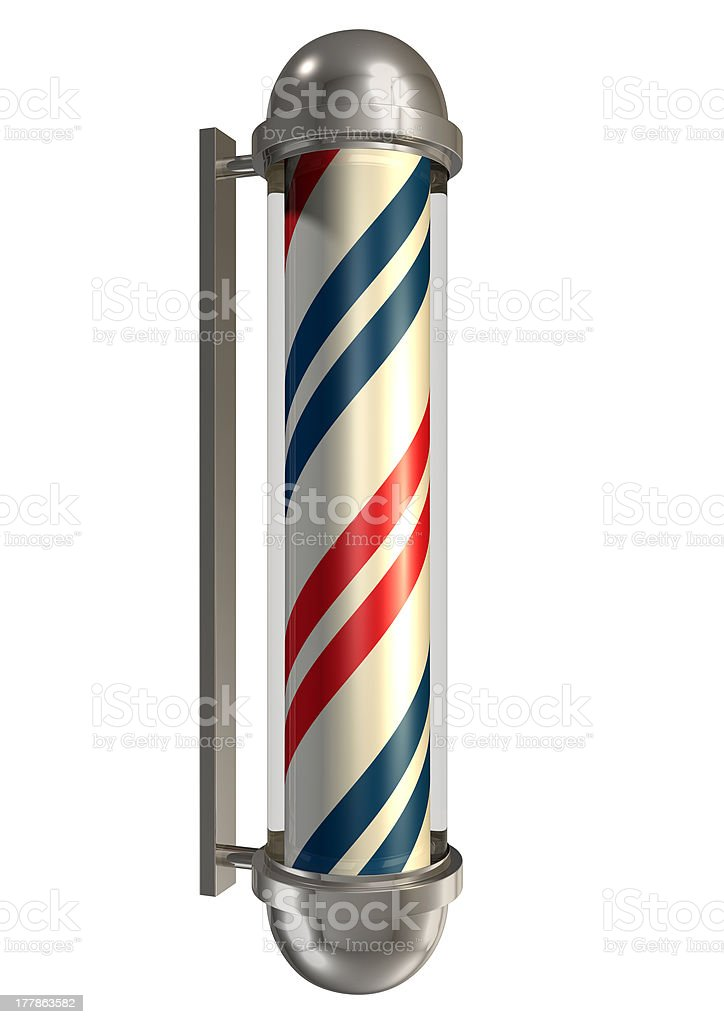 Barbers Poll Isolated stock photo