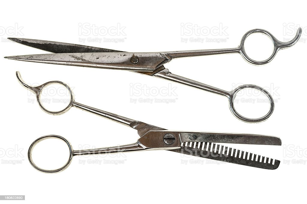 Barber's scissors stock photo