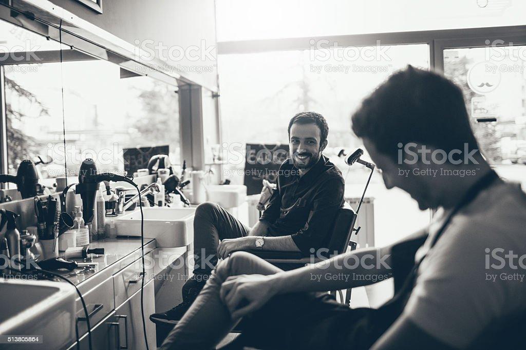 Barber tienda historias. - foto de stock
