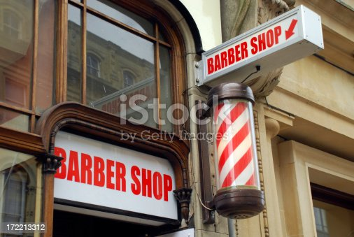 istock Barbershop and pole 172213312