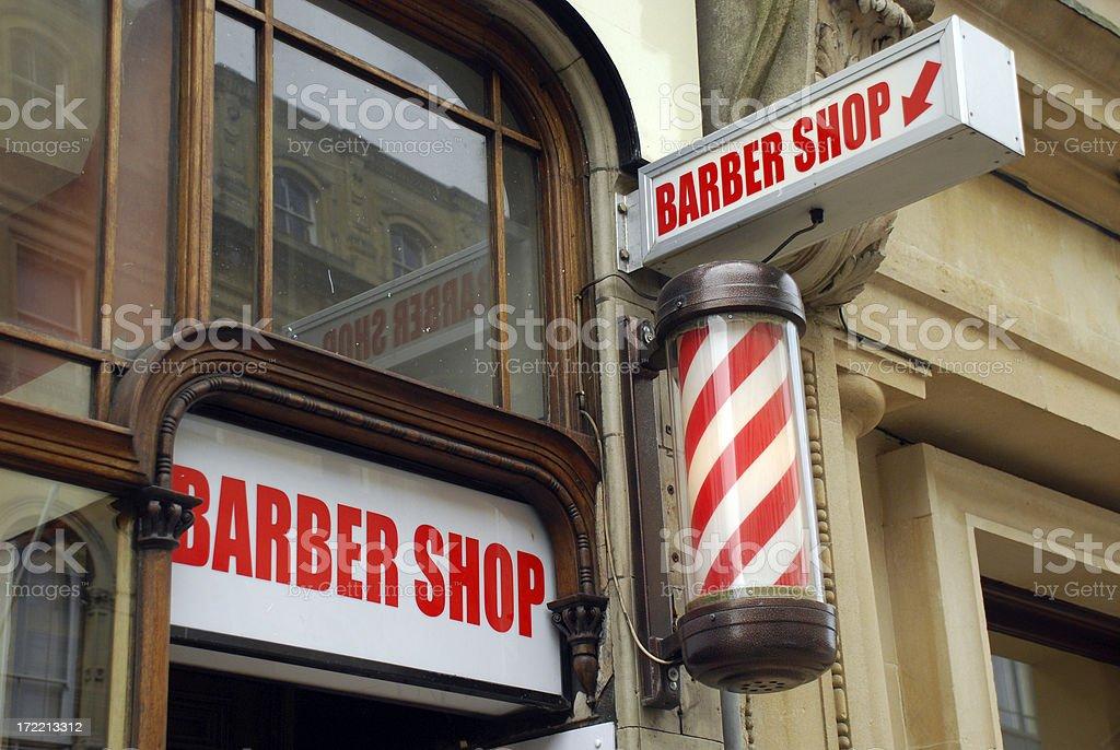 Barbershop and pole stock photo
