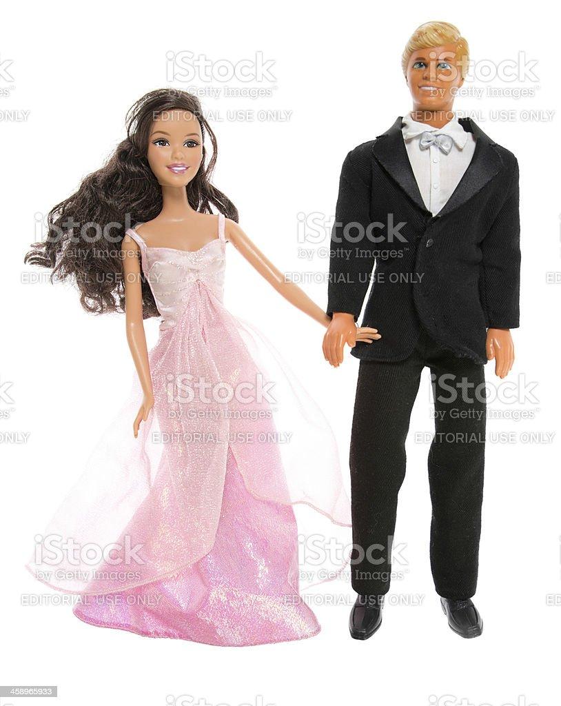 Barbie, e Ken moda Dolls, na data - foto de acervo