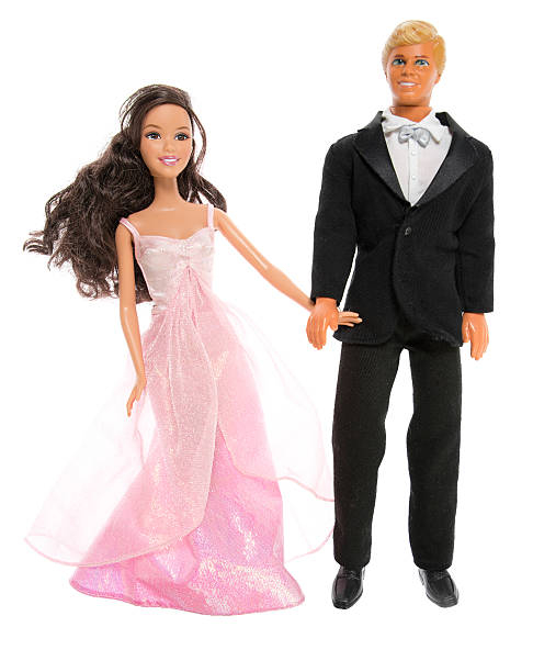 Barbie and Ken Fashion Dolls, on Date stock photo