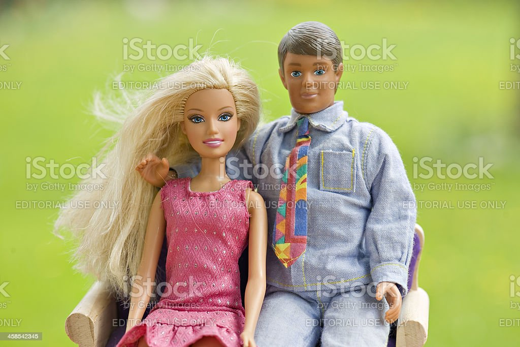 Barbie and Ken stock photo