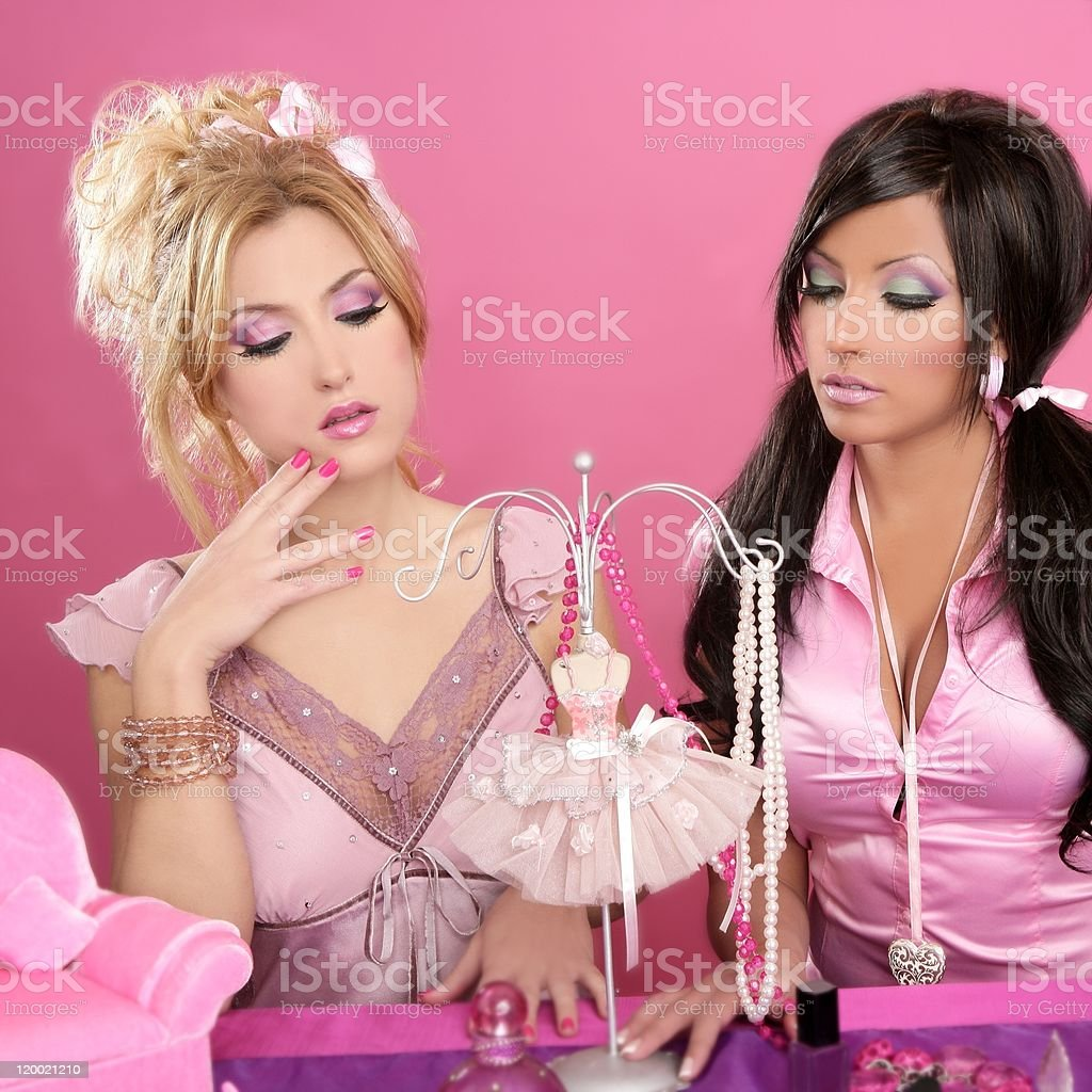 Barbie Doll Girls Pink Vanity Table Fashion Designer Stock Photo Download Image Now Istock