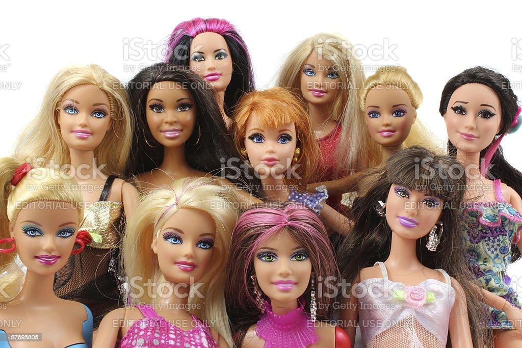 Boneca Barbie fotografia de grupo. - foto de acervo