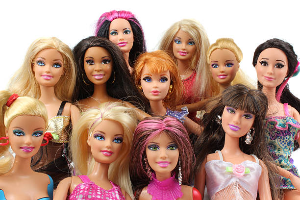 Barbie Doll Group shot. stock photo