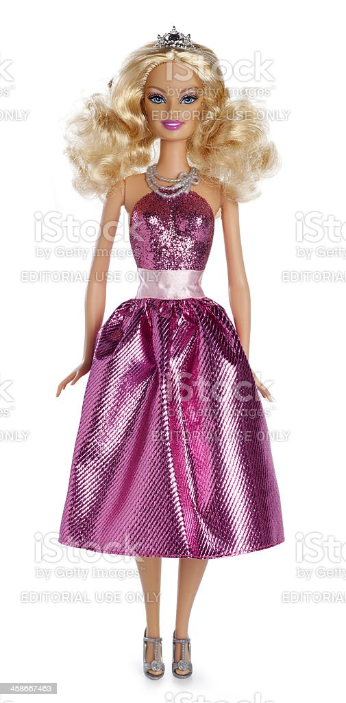 Barbie Doll on White stock photo