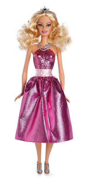 Barbie Doll on White stock photo