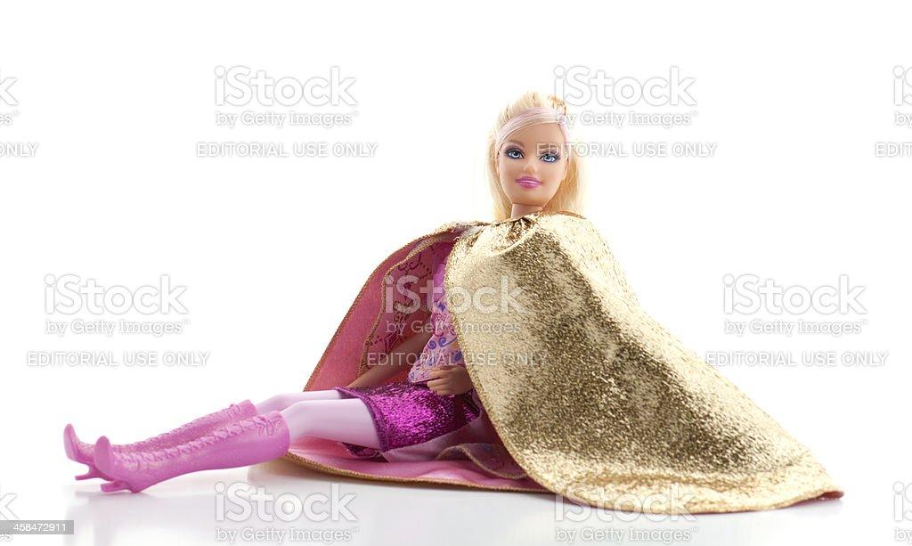 Fotografía de Barbie Muñeca Usando Cabo De Oro Sobre Fondo Blanco y ...