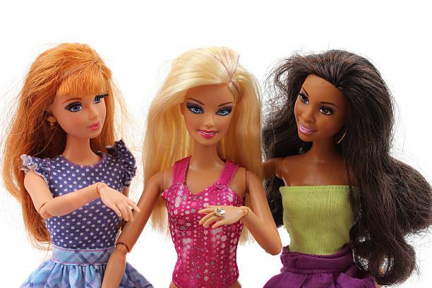 Barbie dolls engagement stock photo