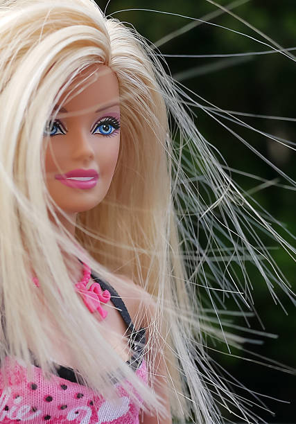 Barbie in the wind stock photo