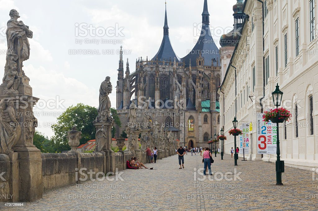 Barborska street in Kutna Hora, Czech Republic stock photo