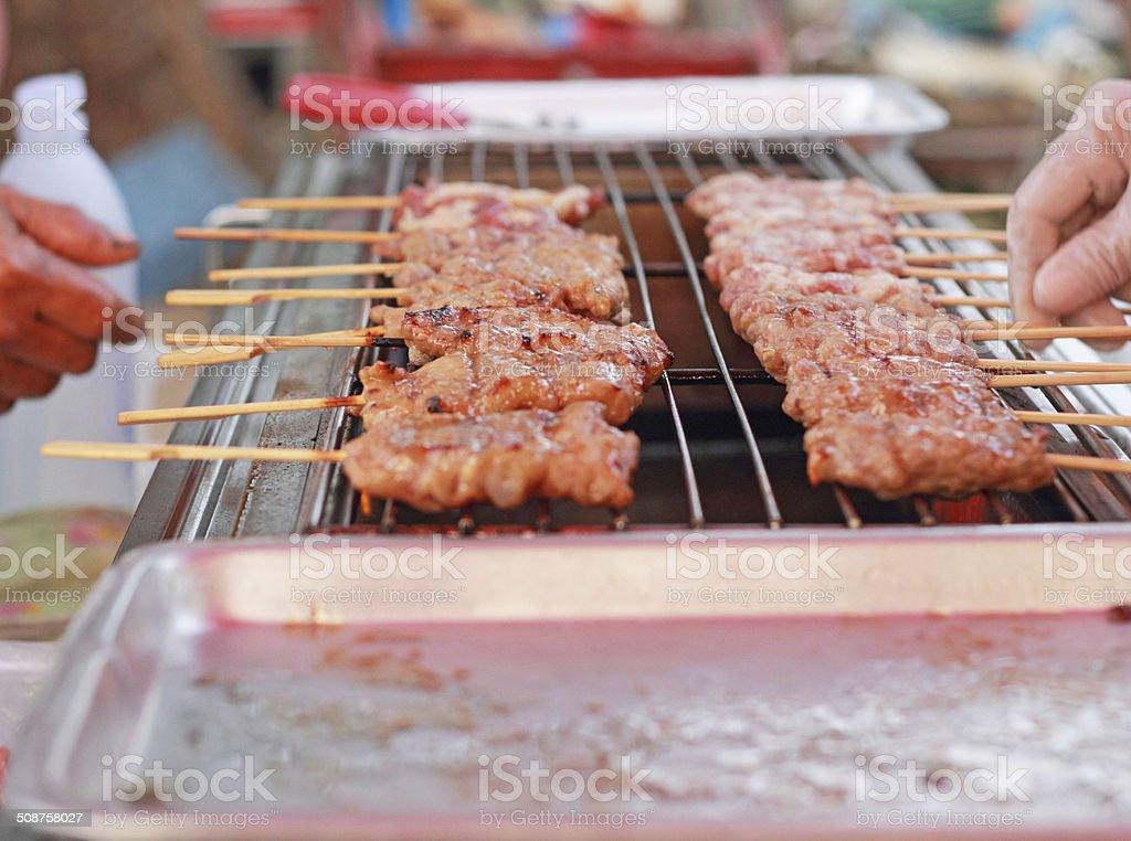 Bar-B-Q o BBQ grill de carne - foto de stock