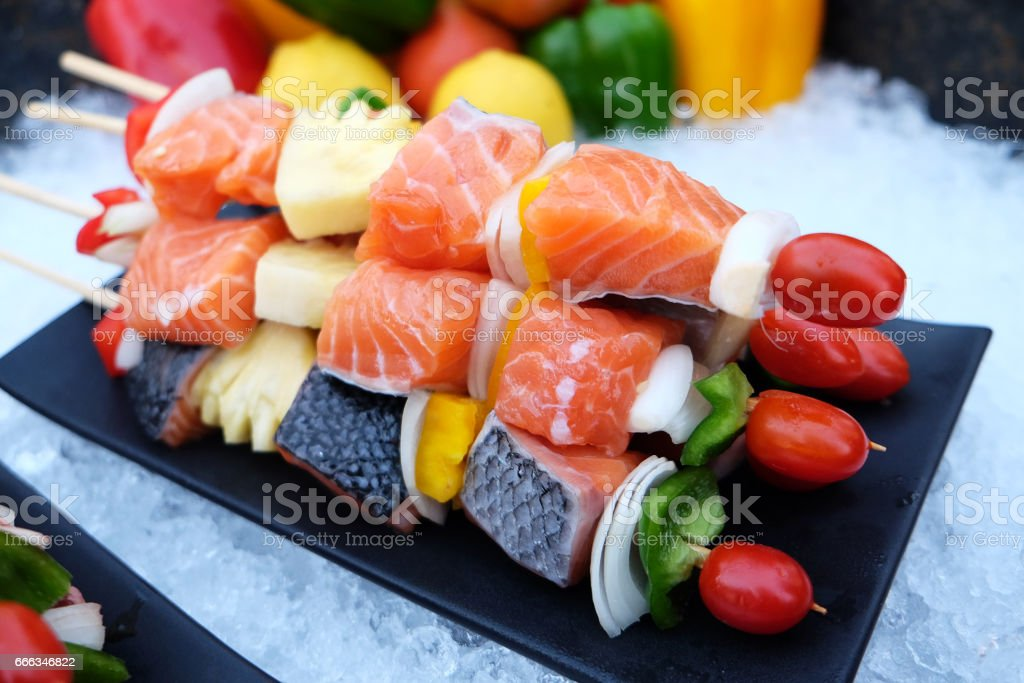 Bar-B-Q,Barbeque Grill Street Food in thailand stock photo