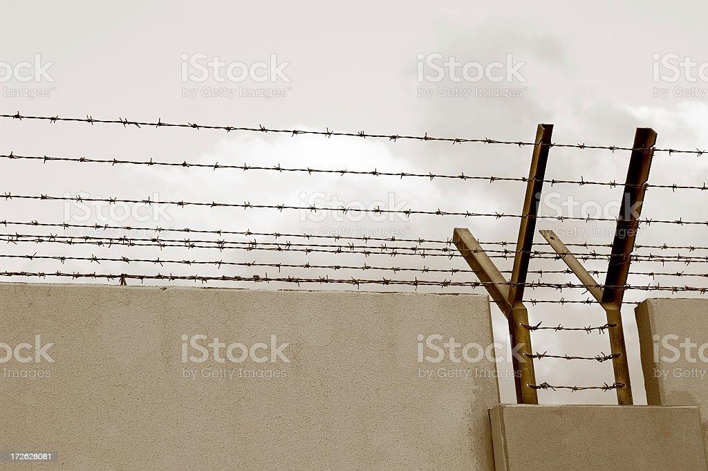 barbwire wall royalty-free stock photo