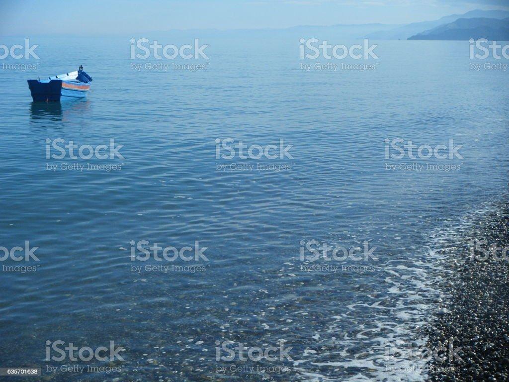 Barca en soledad royalty-free stock photo