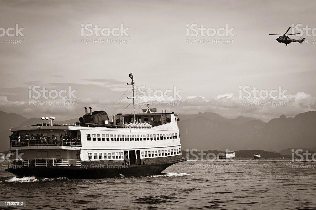 Barca Rio-Niteroi ferry boat on Baia de Guanabara royalty-free stock photo