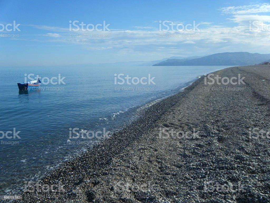 Barca solitaria royalty-free stock photo