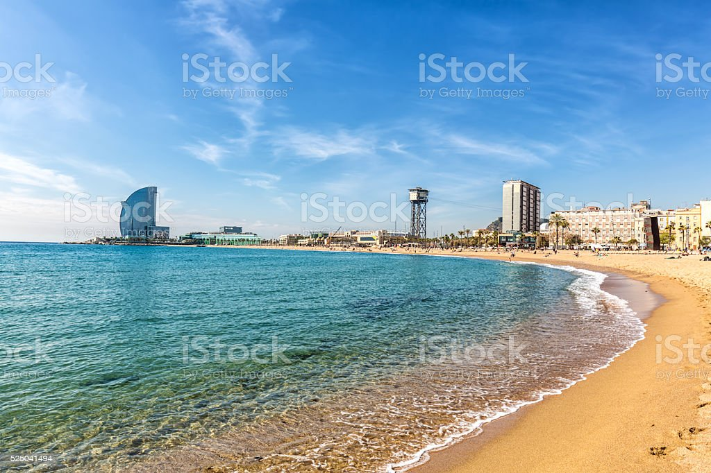 Barcelana beach stock photo