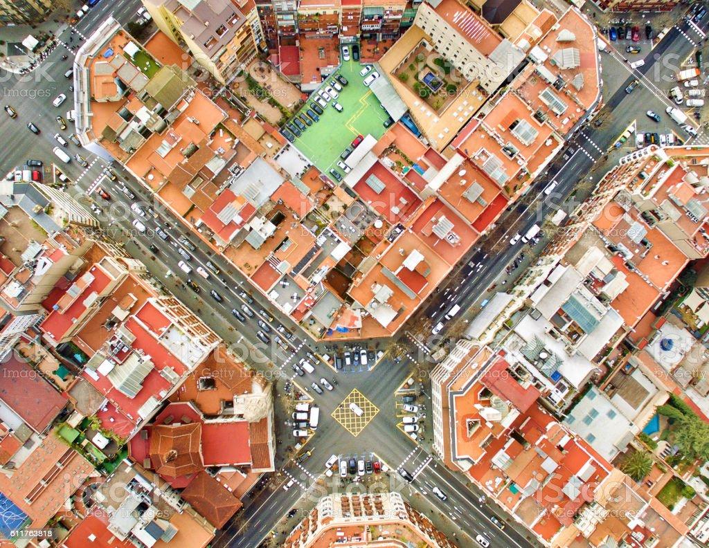 Barcelona Foto aérea - foto de stock