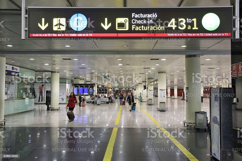Barcelona airport stock photo