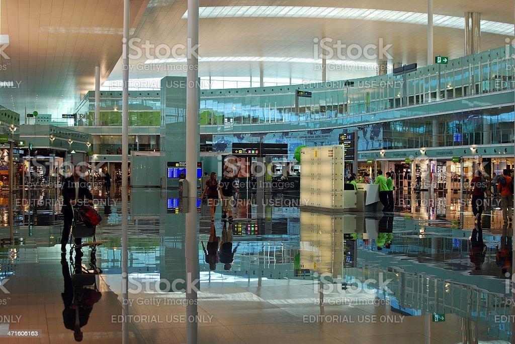 Barcelona Airport Terminal stock photo