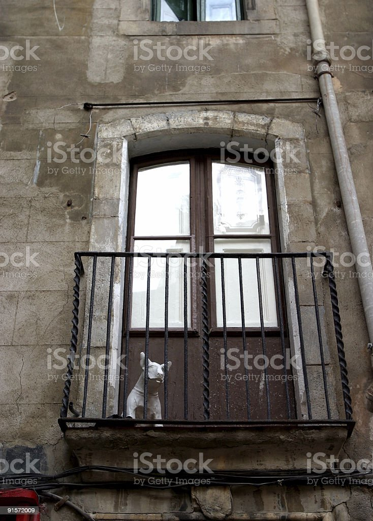 Barcelona Apartment Balcony Architecture Urban Housing stock photo