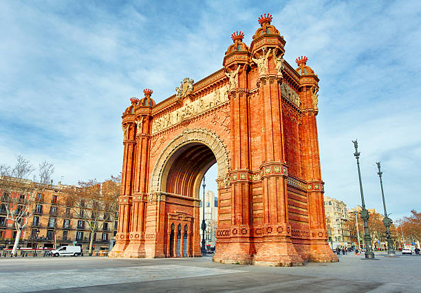 Barcelona, Arc de Triomph, Spain Barcelona, Arc de Triomph, Spain barcelona spain stock pictures, royalty-free photos & images