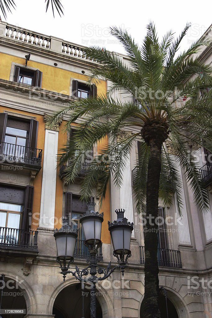 Barcelona Architecture Placa Reial royalty-free stock photo