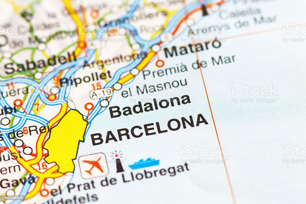 Barcelona Area On A Map Stock Photo More Pictures of 2015 iStock