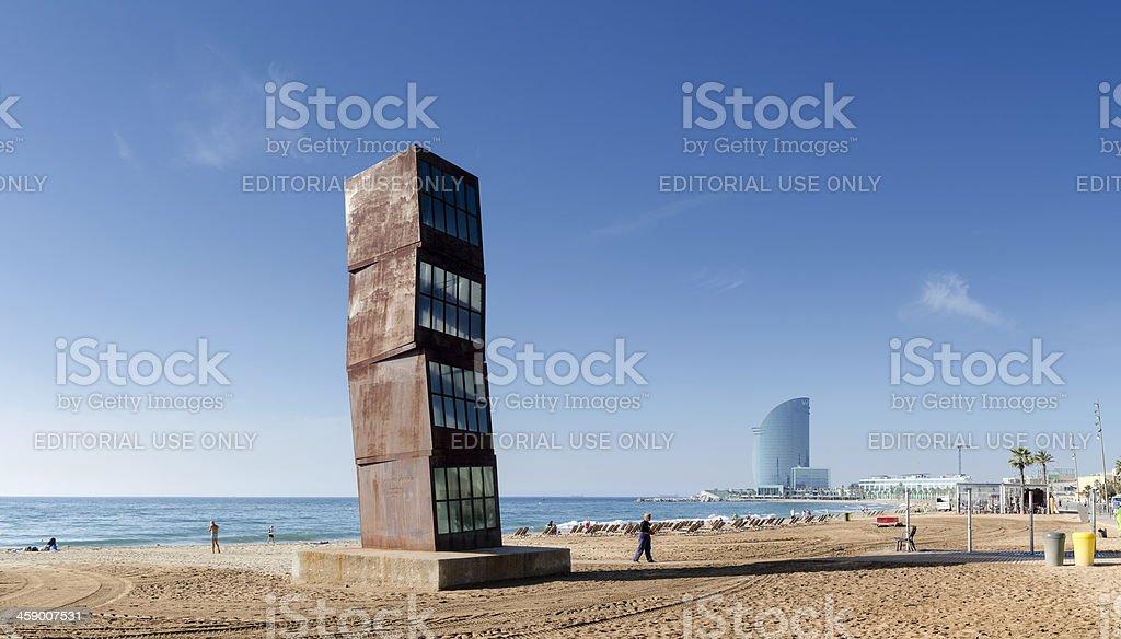 Barcelona beach panorama, Spain royalty-free stock photo