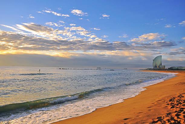 Barcelona playa - foto de stock