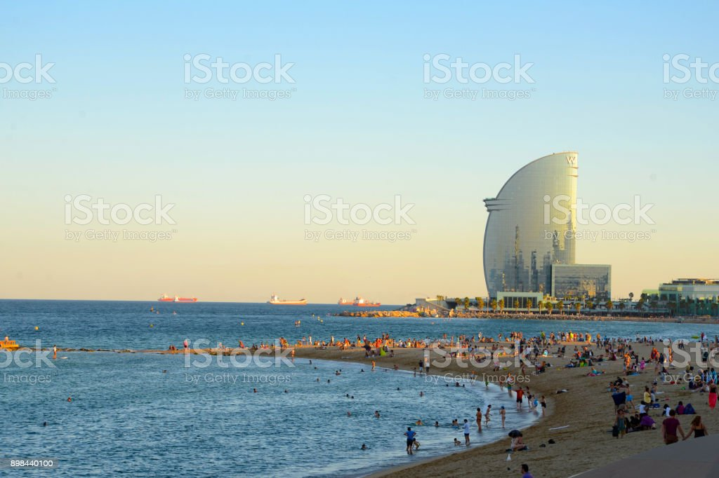 Barcelona beach stock photo