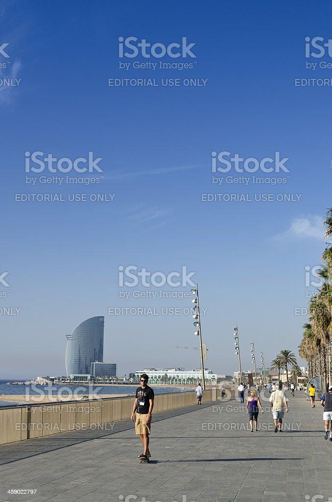 Barcelona beach promenade stock photo