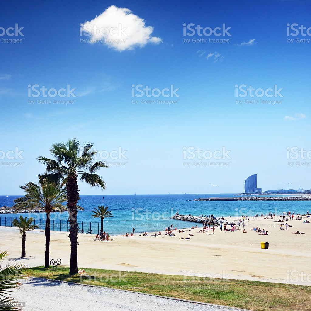 Barcelona beach, Spain stock photo