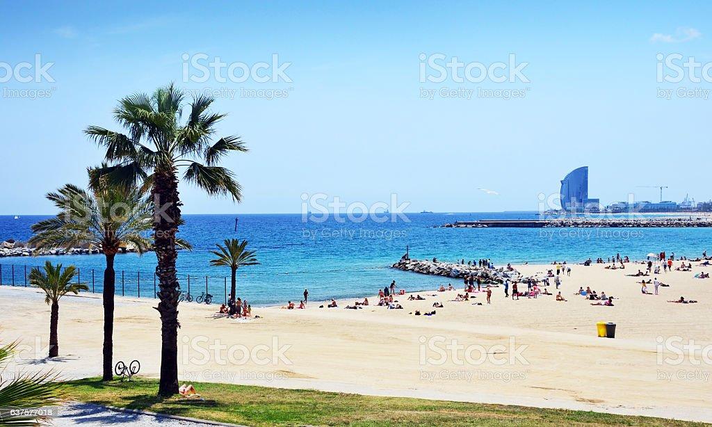 Strand Von Barcelona Spanien Stock Fotografie Und Mehr Bilder Von