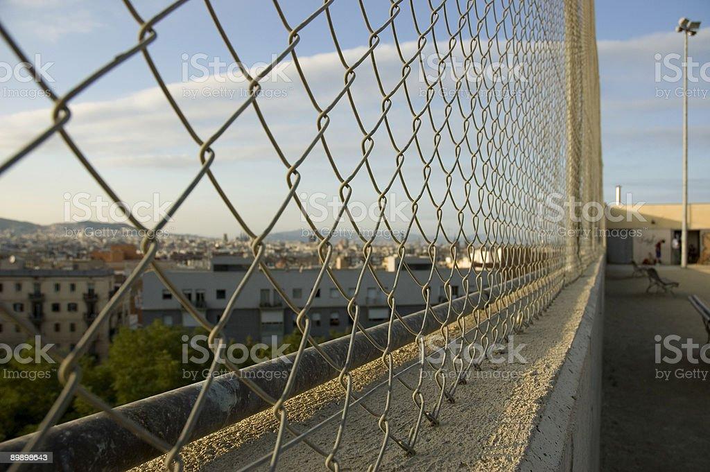 barcelona a la valla foto de stock libre de derechos
