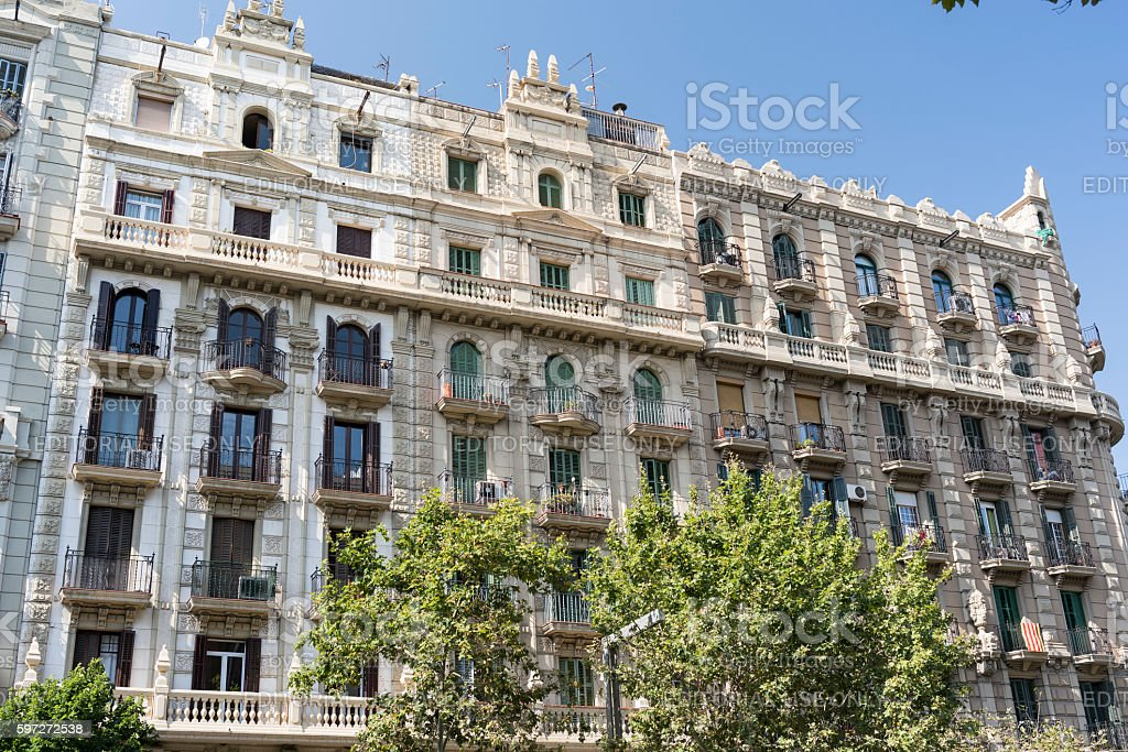 Barcelona (Spain): building photo libre de droits