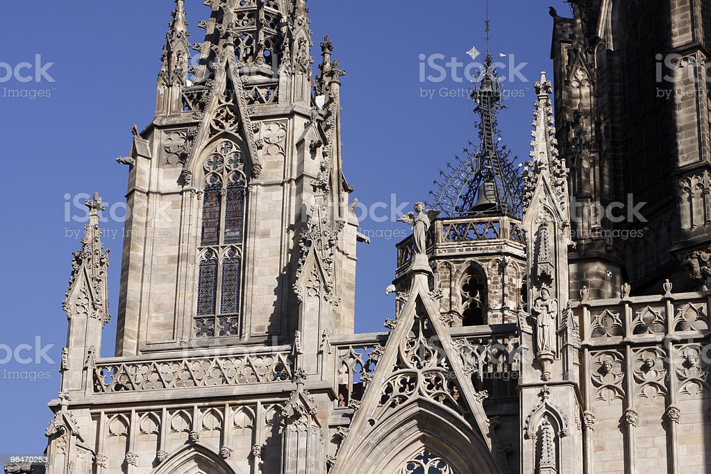 Barcelona Cathedral in Catalonia, Spain royalty-free stock photo
